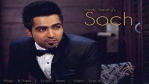 Soch Lyrics Hardy Sandhu