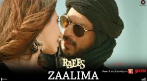 Zaalima Lyrics - Raees (Shah Rukh Khan & Mahira Khan) Arijit Singh & Harshdeep Kaur
