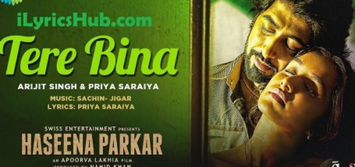 Tere Bina Lyrics - Arijit Singh, Priya Saraiya