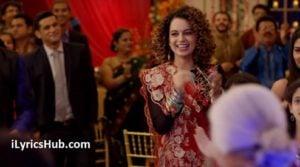 Lagdi Hai Thaai Lyrics (Full Video) - Simran, Kangana Ranaut, Guru Randhawa