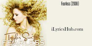 Forever and Always Lyrics - Taylor Swift