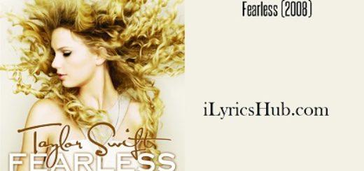 Change Lyrics (Full Video) - Taylor Swift
