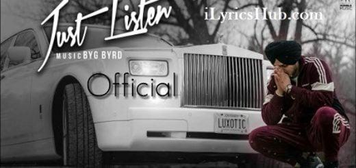 Just Listen Lyrics (Full Video) - Sidhu Moose Wala Ft. Sunny Malton
