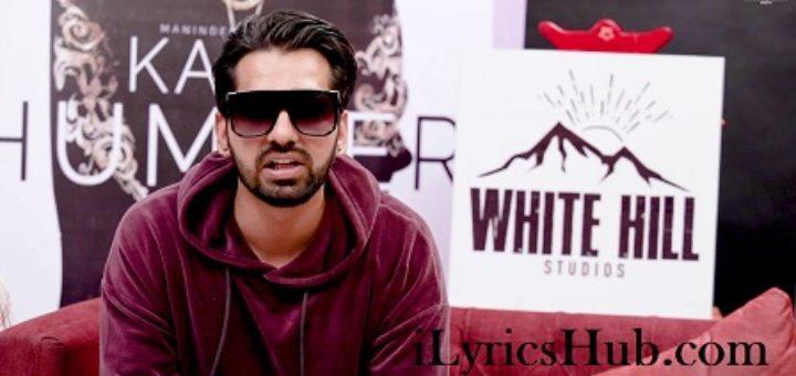 Kaali Hummer Lyrics - Maninder Buttar | Happy Raikoti