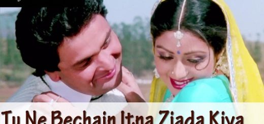 Tune Bechain Itna Ziada Kiya Lyrics - Nagina   Sridevi, Reshi Kapoor