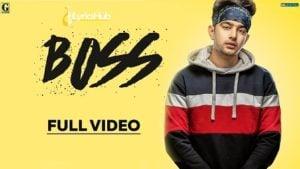 Boss Lyrics - Jass Manak | Game Changerz