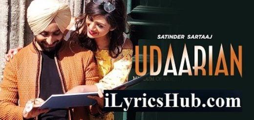 Udaarian Lyrics - Satinder Sartaaj | Rajdip Shoker | Jatinder Shah