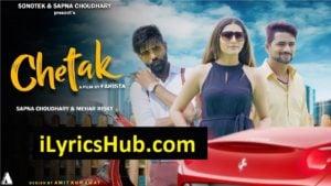 Chetak Lyrics - Raj Mawar | Sapna Chaudhary