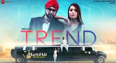 Trend Lyrics - Ramji Gulati, Sara Khan