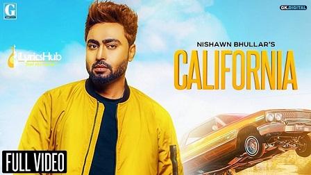 California Lyrics - Nishawn Bhullar
