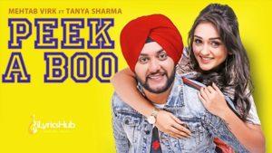 Peek A Boo Lyrics - Mehtab Virk