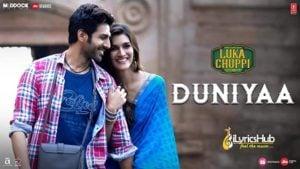 Duniya Lyrics - Luka Chuppi | Akhil