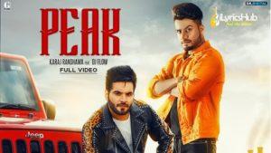 Peak Lyrics - Karaj Randhawa