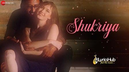 Shukriya Lyrics - Arko