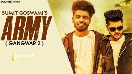 Army Lyrics - Sumit Goswami   Gangwar 2