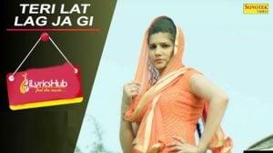 Teri Lat Lag Jagi Lyrics Sapna Choudhary