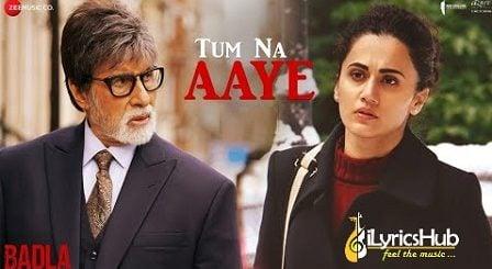 Tum Na Aaye Lyrics - Badla | KK