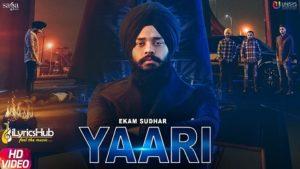 Yaari Lyrics - Ekam Sudhar