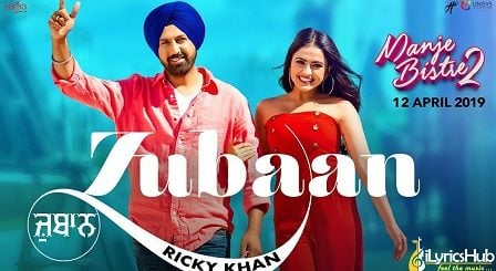 Zubaan Lyrics - Ricky Khan