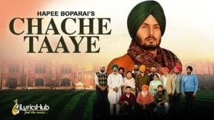 Chache Taaye Lyrics Hapee Boparai