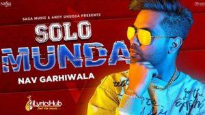 Solo Munda Lyrics Nav Garhiwala