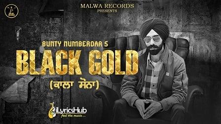 Black Gold Lyrics Bunty Numberdar