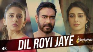Dil Royi Jaye Lyrics De De Pyaar De by Arijit Singh