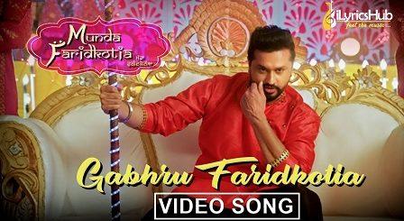 Gabhru Faridkotia Lyrics Roshan Prince, Mannat Noor