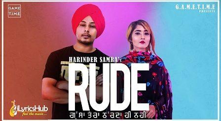 Rude Lyrics Harinder Samra (Gussa Tera)