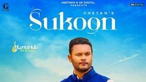 Sukoon Lyrics Chetan