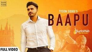 Baapu Lyrics - Tyson Sidhu