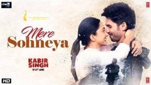 Mere Sohneya Lyrics Kabir Singh