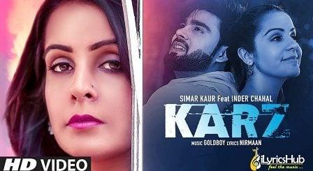 Karz Lyrics Simar Kaur | Shiddat