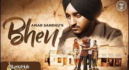 Bhen Lyrics Amar Sandhu