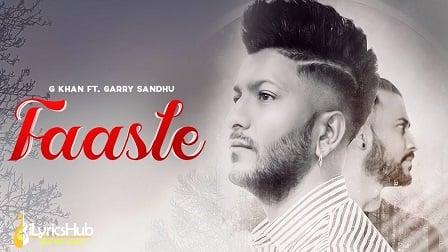Faasle Lyrics G Khan, Garry Sandhu