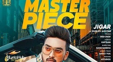 Master Piece Lyrics Jigar | Gurlez Akhtar