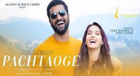 Pachtaoge Lyrics Arijit Singh | Vicky Kaushal & Nora Fatehi