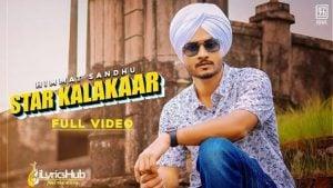 Star Kalakaar Lyrics Himmat Sandhu