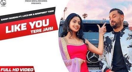 Like U (Tere Jaisi) Lyrics Garry Sandhu