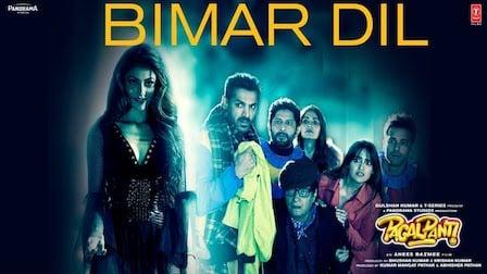Bimar Dil Lyrics Pagalpanti | Jubin Nautiyal x Asees Kaur