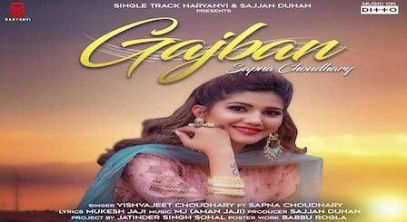Gajban Lyrics Sapna Choudhary | Chundadi Jaipur Ki