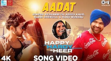 Aadat Lyrics Happy Hardy And Heer