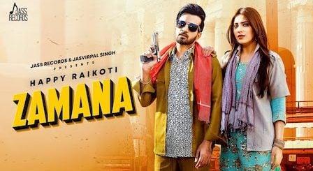 Zamana Lyrics Happy Raikoti   Afsana Khan
