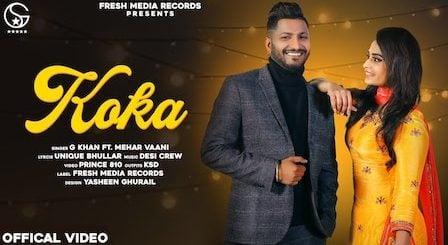 Koka Lyrics G Khan | Mehar Vaani