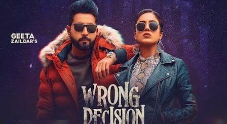 Wrong Decision Lyrics Geeta Zaildar