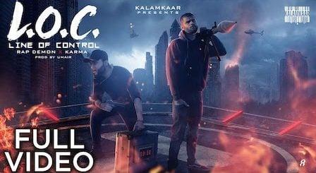 LOC Lyrics Rap Demon x Karma | Line Of Control