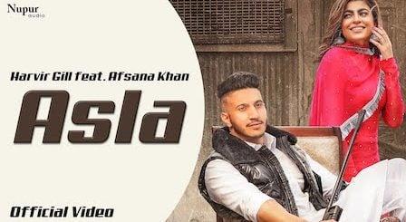 Asla Lyrics Harvir Gill | Afsana Khan