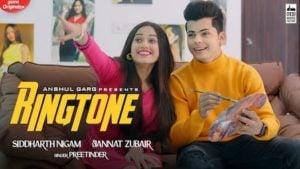 Ringtone Lyrics Preetinder | Jannat Zubair