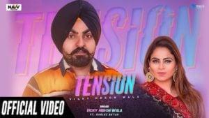 Tension Lyrics Vicky Heron Wala   Gurlez Akhtar