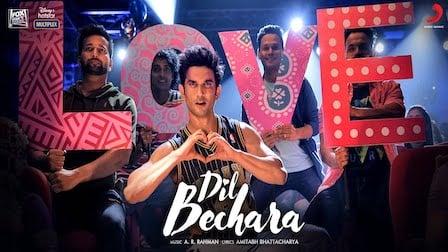 Dil Bechara Title Track Lyrics A.R Rahman | Sushant Singh Rajput